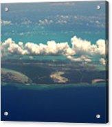 Barrier Island In Caribbean Acrylic Print