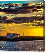 Barrier Island Sunset Acrylic Print