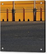 Barriers Of Yellow Acrylic Print