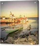 Barriquant Dock Under Sunset  Acrylic Print