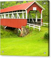 Barron's Covered Bridge Acrylic Print