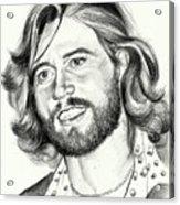Barry Gibb Portrait Acrylic Print