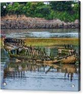 Barry Island Wrecks 2 Acrylic Print