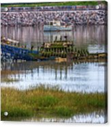 Barry Island Wrecks 3 Acrylic Print
