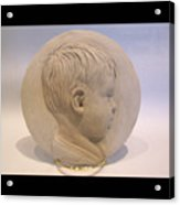 Bas Relief Of Malek Acrylic Print by Terri  Meyer
