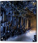 Basalt Pillars Line Fingals Cave Acrylic Print