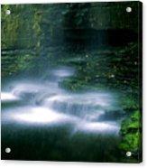 Base Of Waterfall Acrylic Print