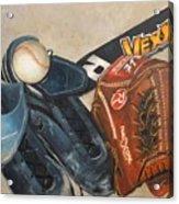 Baseball Allstar Acrylic Print by Teri Vaughn