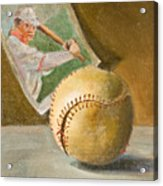 Baseball And Card Acrylic Print