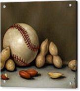 Baseball And Penuts Acrylic Print by Clinton Hobart
