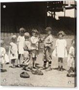 Baseball: Boys And Girls Acrylic Print by Granger