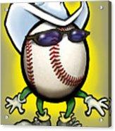 Baseball Cowboy Acrylic Print