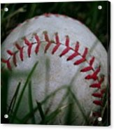 Baseball Acrylic Print by Diane Reed