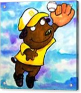 Baseball Dog 4 Acrylic Print by Scott Nelson