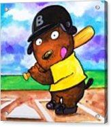 Baseball Dog Acrylic Print by Scott Nelson