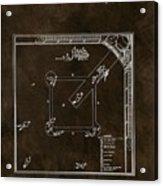 Baseball Game Patent Acrylic Print