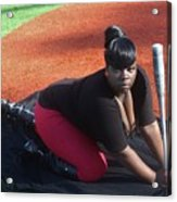 Baseball Girl 3 Acrylic Print