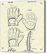 Baseball Glove 1910 Patent Art Acrylic Print by Prior Art Design