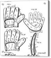 Baseball Glove Patent 1910 Acrylic Print