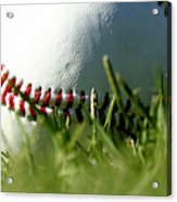 Baseball In Grass Acrylic Print
