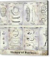 Baseball Patent History Acrylic Print