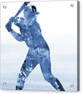Baseball Player-blue Acrylic Print
