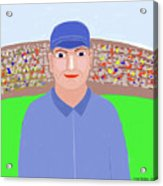 Baseball Star Portrait Acrylic Print