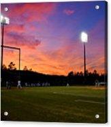 Baseball Sunset Acrylic Print