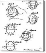 Baseball Training Device Patent 1961 Acrylic Print