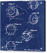 Baseball Training Device Patent 1961 Blue Acrylic Print