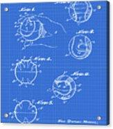 Baseball Training Device Patent 1961 Blueprint Acrylic Print