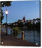 Basel At Night Acrylic Print