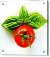 Basil And Cherry Tomato Acrylic Print