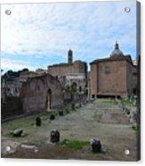 Basilica Aemilia From Behind Acrylic Print