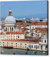 Basilica Della Salute And Punta Della Dogana In Venice Italy Acrylic Print