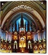 Notre - Dame Basilica - Montreal Acrylic Print