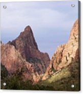 Basin View Big Bend Texas  Acrylic Print