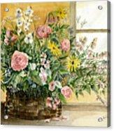 Basket Bouquet Acrylic Print