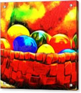 Basket Of Eggs - Da Acrylic Print