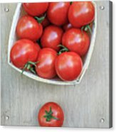 Basket Of Fresh Red Tomatoes Acrylic Print