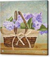 Basket Of Lilacs Acrylic Print
