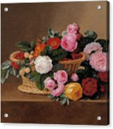 Basket Of Roses Acrylic Print