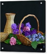 Basket With Astern Acrylic Print