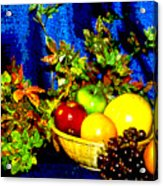 Basket With Fruit Acrylic Print