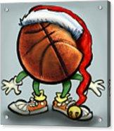 Basketball Christmas Acrylic Print