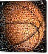Basketball Mosaic Acrylic Print