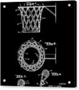 Basketball Net Patent 1951 In Black Acrylic Print