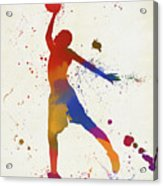 Basketball Player Paint Splatter Acrylic Print