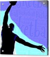 Basketball Poster Acrylic Print