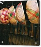 Baskets And Brooms Acrylic Print